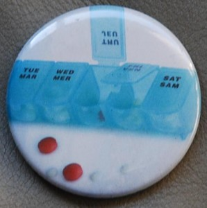 pills button, health button, medicine button, advertisement button