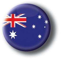 Australia button, Australia pin-back button, flag button, souvenir