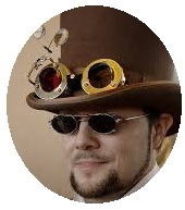 Steampunk pin-back button, steampunk button, hat button, hat pin-back button